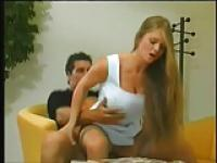 BLONDE BABES AND RAMON FUCKING IN THE DESK