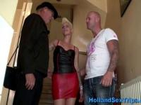 Real tattooed euro hooker sucks