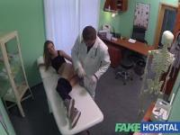 Hot 20s gymnast seduced by doctor and given creampie on the exam table