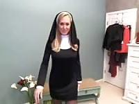 A nun on webcam