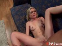 Super hot blondie Chloes pink tight pussy gets destroyed
