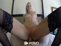 Lean Sierra Nevadah spreads her long legs for a big cock