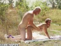 DaringSex Sensual Blonde Outdoor Doggystyle