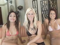 Three horny hot college sluts want to get fucked