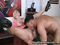 Titty fucking extraordinaire with hot and horny big boobed blonde