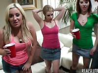 Hot college sluts love alcohol and jizz
