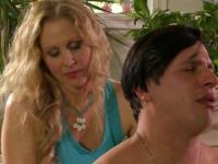 Hot Perky Blonde Masseuse Fondles the Client