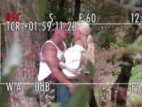 Blonde Perfect Body Bimbo Fucked In The Park