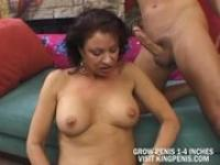 Mature busty blonde don't care how big it is