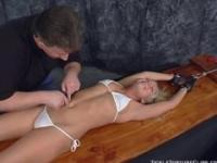 Destiny Stretched and tickle tortured (Britney Brooks)