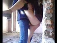 Cheap whore fucked outdoor