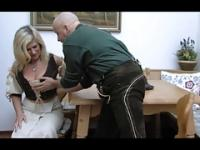 Blonde Huge-Boobs-Granny anal taken