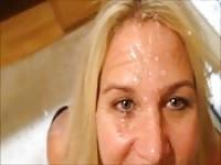 Bathing my wife's face