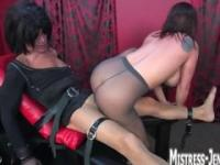 Mistress Fucking a Sissy in Pantyhose