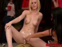 Teen babe shaved and pussylicked hazing