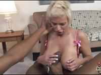 Old white mom takes thick black cock