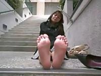 stinky feet outdoors