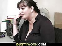 Huge bitch gets fucked by future boss