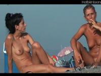 Naked Milf Tanning at Nudist Beach