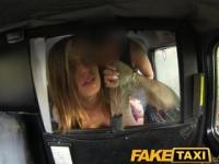 FakeTaxi Big tits babe takes it from behind