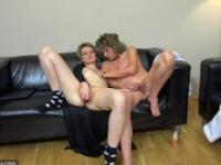 Oldnanny Mature Mom and young stepdaughter, Lesbians sex