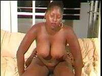 Chubby ebony girl works dick