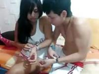 Latin couple fucking on cam