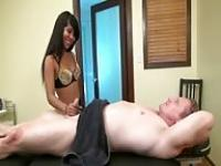 Exotic and compliant masseuse