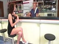 Czech girl seducing the waiter