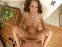 POV fuck with sexy brunette