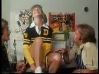 Vintage threesome with a cheerleader