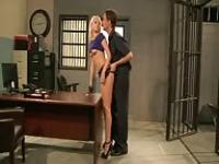 Vanessa Cage fucked in Jail