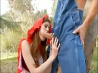 Little Red Riding hood fucks big cock
