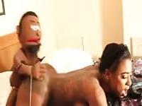 Getting fucked by a horny puppet