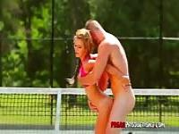 Fucking on the tennis court