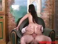 Big ass Arab girl riding a cock
