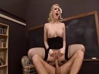 Horny teacher fucking a student in detention room