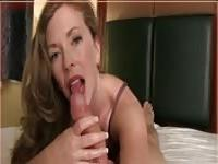 Very sexy mature woman masturbates in style