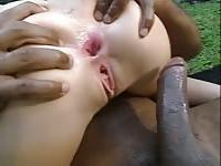 Betty loves having a black cock in her ass