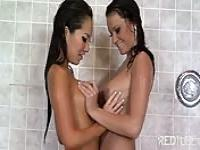 Making out in the shower
