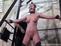 Slave Tayolor Hearts bound and gagged whipping