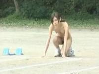 Real asian amateur in naked track and field part6
