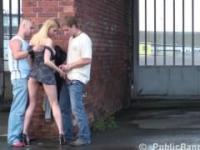 Julie Silver has threesome public sex (part5)