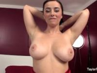 Taylor Vixen Red Dress Masturbation