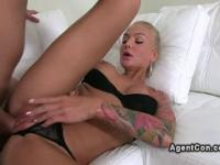 Tattooed busty amateur fucks on casting pov