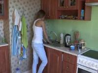 See how this big muscular stranger begins massaging her
