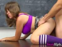 High school teen blowjob and fuck