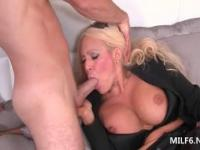 Dirty busty mom turns her bedroom into a hardcore fuck