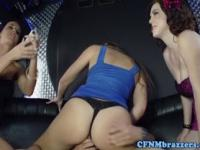 CFNM fetish ladies riding dick
