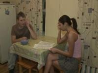 Just stare at her playing with hard cock of stranger us